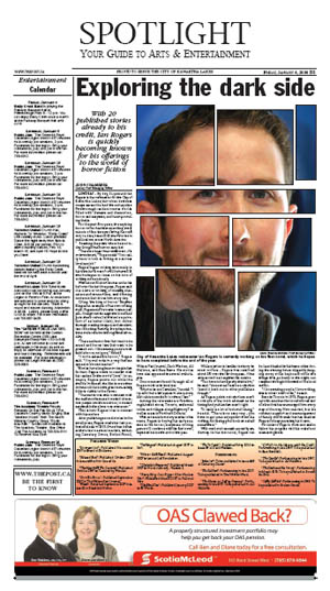 The cover of the Spotlight section of the Lindsay Post, featuring a cover story on Ian Rogers.